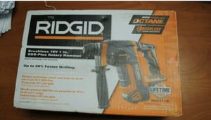 """RIDGID R86711B 18V Brushless 1"""" SDS-Plus Rotary Hammer Drill (Tool Only) for Sale in St. Petersburg, FL"""