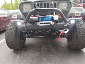 Jeep Wrangler YJ TJ XJ JK Custom Bumper with Winch, LED Lights, and Installation for Sale in Silver Spring, MD