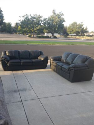 Couches 2 Black Long Sofa/Couches for Sale in Clovis, CA