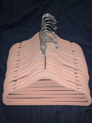 Set of 16 pink kids clothes hangers for Sale in Yorba Linda, CA
