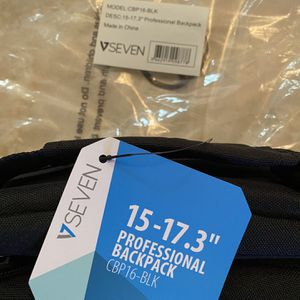 "V7 Laptop Backpack 15-17.3"" , New for Sale in Pompano Beach, FL"