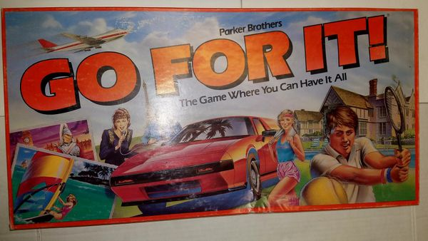 Parker brothers go for it board game