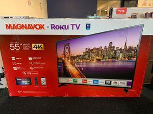 """Brand New Magnavox 55"""" 4K TV! Open box w/ Warranty QR for Sale in Whittier, CA"""