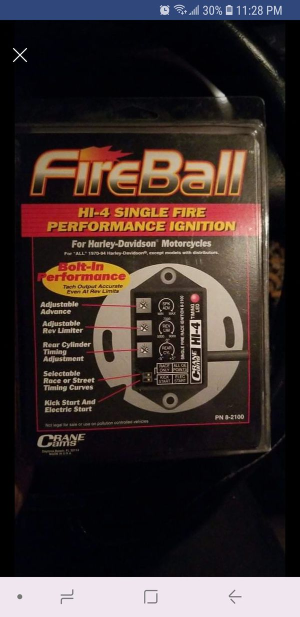 Crane Cams Fireball Hy4 Single Fire Race Ignition Pn 8