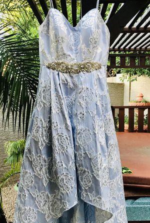 Dillard's Baby Blue & Crystal Bodice w/Sweetheart Neckline Strapless Prom Dress/Wedding Dress Size: 8 for Sale in Lorton, VA