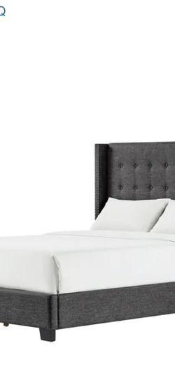 Upholstered Queen Bed frame (Charcoal) for Sale in Washington,  DC