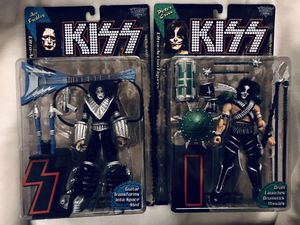KISS Ace & Peter Action Figures By McFarlane Toys . for Sale in Houston, TX