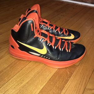 EUC 2013 Nike KD V 5 Black Orange Warriors Kevin Durant SZ US 13 554988-006 A5 Gently used for Sale in Rock Cave, WV