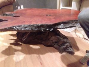 Handmade Redwood coffee table for Sale in Denver, CO