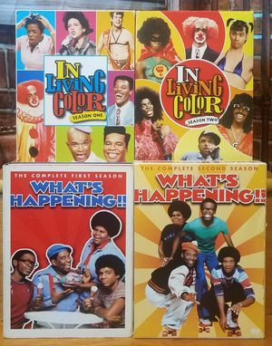 Whats Happening + In Living Color Season 1 & 2 Black TV Comedy DVD Box Lot for Sale in Tampa, FL