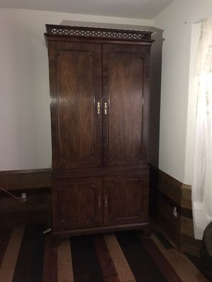 Armoire dark wood dresser for Sale in Wichita, KS