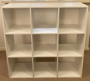 WHITE 9 CUBE BOOKCASE SHELF STORAGE ORGANIZER UNIT for Sale in Raleigh, NC