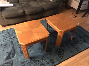 Wood Coffee Table with matching side tables for Sale in Pompano Beach, FL