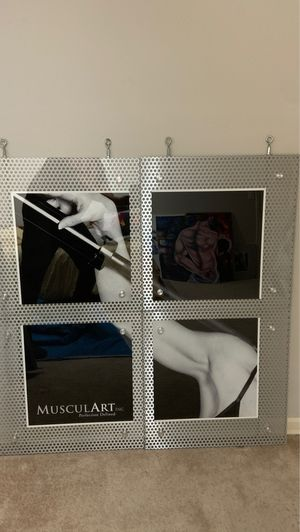 Unique Fitness Image on Perforated Aluminum Frame. Four part image. (45x45) for Sale in Federal Way, WA