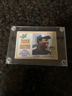 Hank Aaron baseball card for Sale in Federal Way, WA