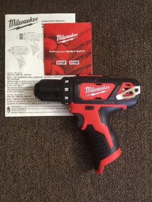 """Milwaukee. M12 Lithium Ion 3/8"""" Cordless Compact Drill Driver (Tool Only). 2407-20. for Sale in Brooklyn, NY"""