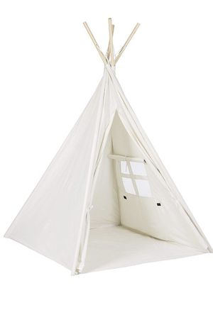 Porpora Indoor Indian Playhouse Toy Teepee Play Tent for Kids Toddlers Canvas, White for Sale in Orlando, FL