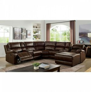 New Leather Sectional Couch with Recliners only $50 down payment for Sale in Hawthorne, CA