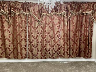 Windows curtains from JCPenney I bought for $600 now I am going to sell for $200 excellent condition like a new for Sale in Maple Valley,  WA