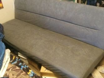 New Futon Color Is Gray for Sale in Crandall,  TX