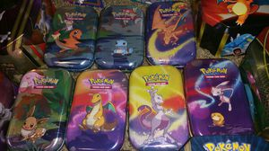 Collectible Pokemon Tins (Mini) for Sale in St. Petersburg, FL