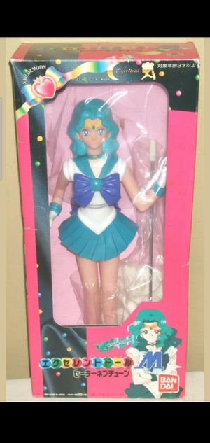 "Sailor Moon Neptune Excellent Model M 14.6"" 37cm Figures Dolls BANDAI 1994 Rare for Sale in Los Angeles, CA"