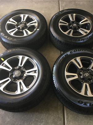 Brand new 2019 Toyota Tacoma 17 inch rims with brand new tires $850 cash only no low ballers and scammers you will be blocked for Sale in Menifee, CA