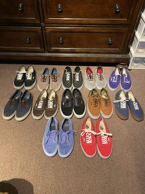 Vans ERA AND AUTHENTIC SIZE 8.5 (13 pairs) for Sale in Englewood, NJ