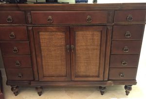 Solid wood 11 drawer buffet cabinet. Excellent condition. for Sale in Miami, FL
