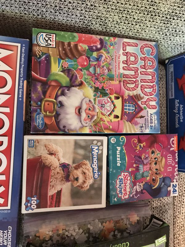 Puzzles & games, toys & kids' movies