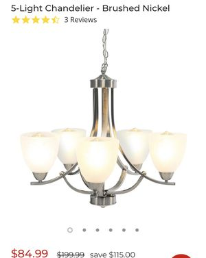 5-Light Chandelier - Brushed Nickel for Sale in Columbus, OH