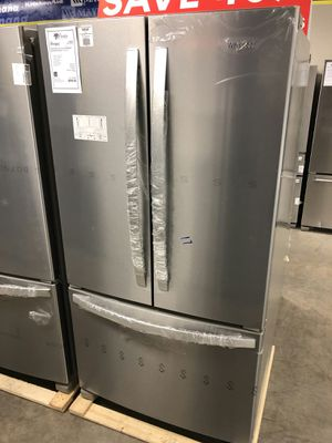 Brand New! Whirlpool French Door Refrigerator w/ Interior Water 1 Year Manufacturer Warranty Included for Sale in Gilbert, AZ