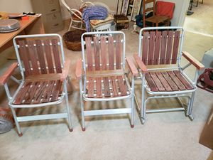 Wood and Aluminum Outdoor Chairs for Sale in Northampton, PA