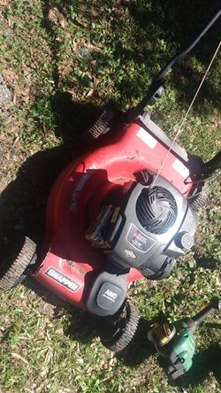 Briggs and Stratton 150cc awd lawn mower and 2 Weed Eaters for Sale in Bremen,  GA