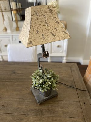 Lamp with spicket design and a place for flowers/plant for Sale in Glendale, AZ