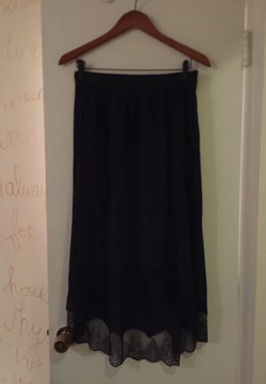 Zadig & Voltaire - Satin black skirt - size 38 / M for Sale for sale  PRINCE, NY