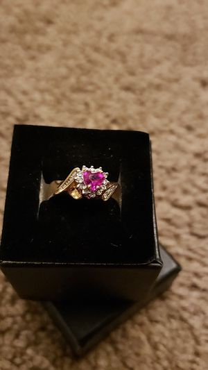 Beautiful ruby and diamond accented ring for Sale in Sedro-Woolley, WA