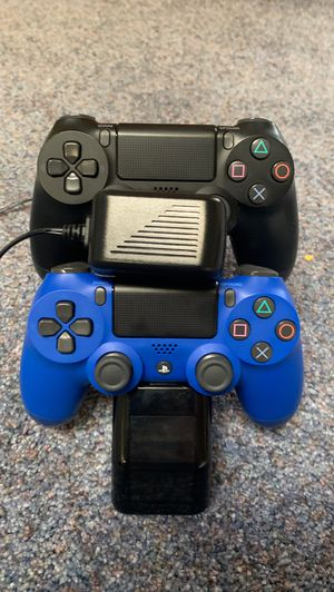 PS4 All of the stuff included are -1 black controller -1 blue controller - HDMI CORD - Power cord - Very new PS4 1 TB for Sale in Vancouver, WA
