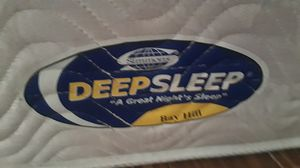 Simmons deep sleep king size mattress 2 twin box springs and frame for Sale in Palm Bay, FL
