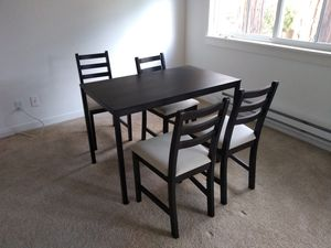 Kitchen table + chairs (IKEA) - on hold for Sale in Sunnyvale, CA