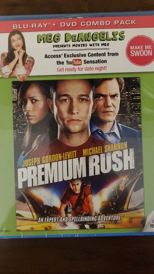 Premium rush Blu-Ray + DVD brand new in factory seal for Sale in Rancho Cucamonga, CA