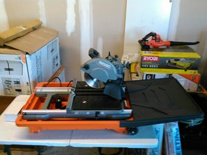 **NEW** RIDGID 12 Amp 8 in. Wet Tile Saw**NO STAND** for Sale in Arlington, TX