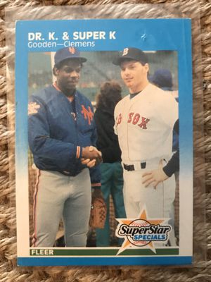 Gooden-Clemens Fleer Super Star Specials Baseball Card Mint Condition for Sale in Whittier, CA