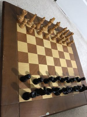Giant wooden chess board set for Sale in Cary, NC