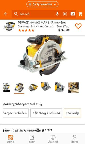 DeWalt 20 volt 6 1/2 inch circular saw tool only for Sale in Greenville, SC