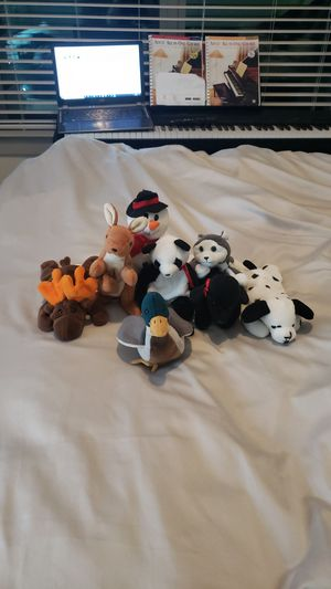 Lot of 8 beanie babies no tags but rare. Make me an offer. for Sale in Raleigh, NC