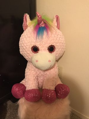 """Unicorn 25"""" Stuffed Animal for Sale in Ceres, CA"""