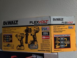 DeWalt flexvolt brushless 20 v max hammer drill impact driver kit for Sale in Tacoma, WA