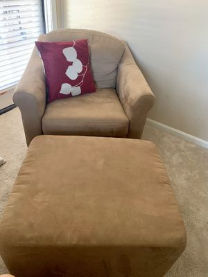 Tan FABRIC CHAIR SOLIDLY MADE for Sale in Chandler, AZ