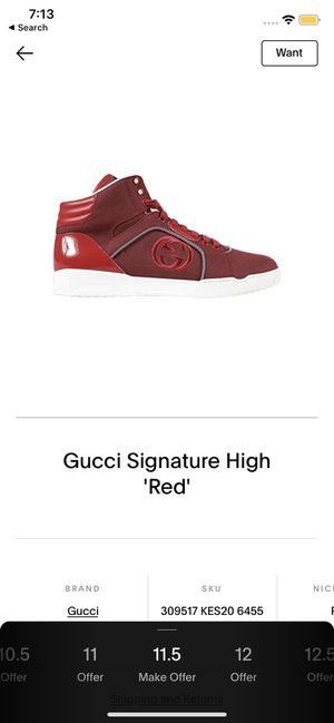"""Men's Gucci Signature High """"Red"""" for Sale in Lawrenceville, GA"""